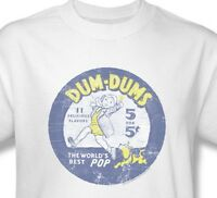 Dum-Dums T-shirt Free Shipping distressed logo vintage style cotton tee DUM110