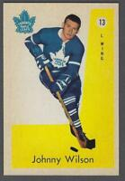 1959-60 Parkhurst Toronto Maple Leafs Hockey Card #13 Johnny Wilson