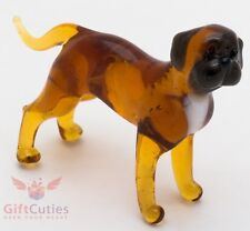 Art Blown Glass Figurine of the Bullmastiff dog