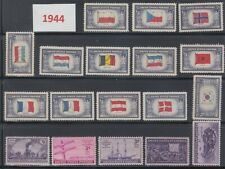 USA 1944 Full Year Commemorative MNH Stamps Set SC# 909-926 With 18 Stamps