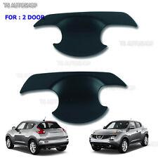 Matte Black Front 2 Door Handle Bowl Cover For Nissan Juke F15 2010 2014 2016