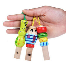 Baby Kid Wooden Cartoon Animal Whistle Educational Music Instrument Toy Popular