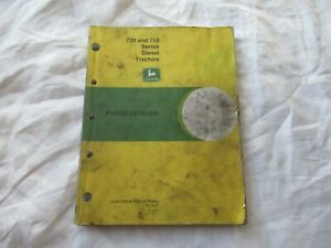 John Deere model 720 730 tractor  parts catalog manual book
