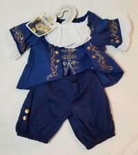 BUILD A BEAR Beauty and the Beast Ballroom Outfit Blue Clothes BABW New Disney