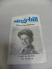 Chicago Stagebill Playbili Ann B. Davis Autographed Pheasant Run The Nearlyweds