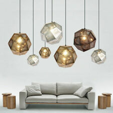 Art Metal Polyhedral Pendant Light Bar Stainless Steel Pendant Lamp Chandelier