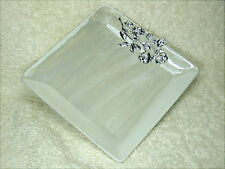 Bomboniera per matrimonio e 1° Comunione, piattino in vetro con applicazione