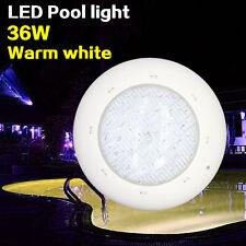 LED underwater light Pool lighting Warm white 3000K 12V 36W Outdoor lamp Spa