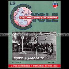 LE CYCLE N°16/1956 MULTIMATIC LAVALETTE MOBYLETTE HORSY FAVOR FOIRE DE BORDEAUX