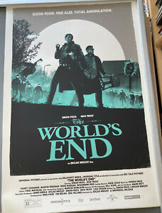 Vice Press / Botleneck Gallery THE WORLD'S END Print MATT FERGUSON 98/195