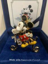 Swarovski Crystal ARRIBAS Minnie Mouse 75th Anniversary Pin Very Rare W/ Stand