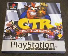 Crash Team Racing CTR Manual Only - Sony PlayStation 1 PS1 - Platinum Version