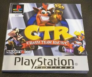 Crash Team Racing CTR Manual Only - Sony PlayStation 1 PS1 - Platinum Version