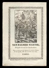 santino stampa popolare 1800 S.BAUDILIO DI NIMES M.