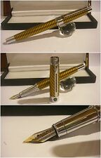 Stilografica Regal British LEOPARD fountain pen - Stylo Nib two tone Rhodium