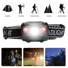 Strap On LED Hat Headlamp Adjustable Head Strap Work Head Light Flashlight Light