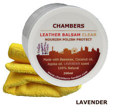 Leather Conditioner & Restorer Chambers Leather Balsam for sofas, boots Lavender