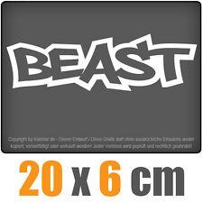 Beast 20 x 6 cm jdm decal sticker adesivo racing bianco, dischi adesivi