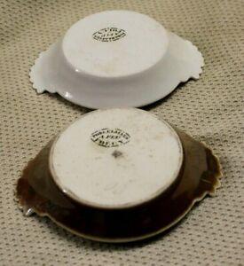 2 mini plat en porcelaine de folcy ( dinette poupée ?? )