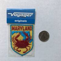 Maryland State Patch Iron On Vintage Made by Voyager Lobster