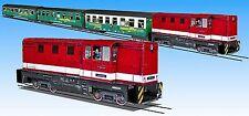 Zug der Fichtelbergbahn Kartonbausatz Maßstab 1:87 - H0e