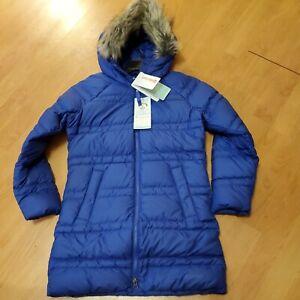 Marmot Montreaux ll 700 fill Down Coat  Royal Night  Girls size M retails $175