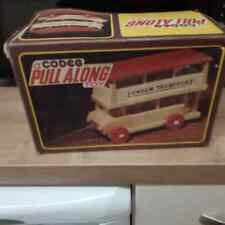 Rare vintage  wooden London bus, boxed by codeg made in Bulgaria
