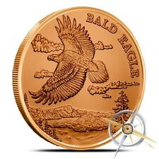 1 oz Copper Round - Bald Eagle
