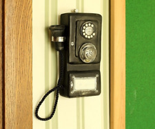 Vintage Old-Fashioned Wall Mounted Telephone Nostalgic Crafts Model Phone Décor