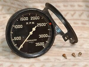 Vintage Stewart Warner Mechanical Tachometer Gauge 1946! Flathead Hot Rod! WORKS