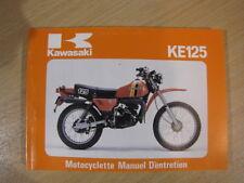 KAWASAKI KE125 KE125-A7 MANUEL D'ENTRETIEN