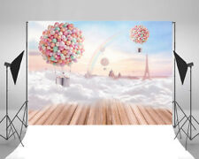 7x5FT Hot Air Balloon Cloud Layer Rainbow Photography Backdrops Photo Background