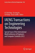 Lecture Notes in Electrical Engineering: IAENG Transactions on Engineering...