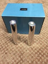 """Nambe Twist Candlesticks 7"""" (Pair) #6236 Fred Bould"""