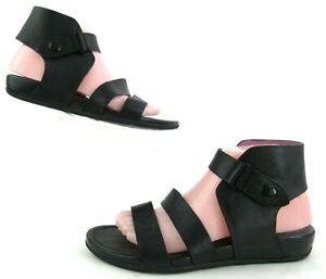Women's FitFlop Gladdie Ankle Cuff Gladiator Sandals Black Size 8 $165.00