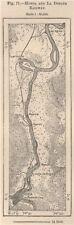 Honda y la Dorada Ferrocarril. Rio Magdalena. Colombia 1885 Antiguo Mapa Antiguo