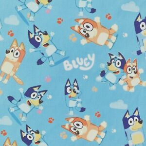FQ BLUEY DOG CHILDRENS CHARACTER POLYCOTTON FABRIC