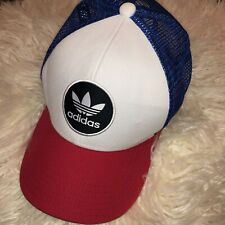 Adidas red white and blue snapback cap
