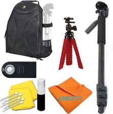 """BACKPACK + 72"""" MONOPOD/ TRIPOD + REMOTE FOR CANON EOS REBEL T3 T3I T4 T4I T5 T5I"""