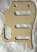 Custom For Vintage Modified VI Bass Guitar Pickguard,3 Ply Vintage Yellow