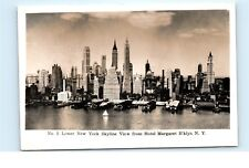 Lower New York City NYC View from Hotel Margaret Vintage Real Photo Postcard C29