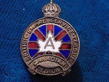 CANADA Canadian Legion Empire Service League pin KIBSGAARD COBENHAVN DENMARK