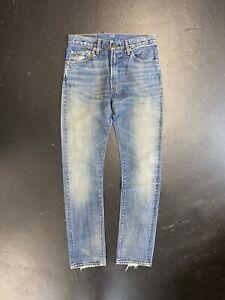 Levis Vintage Clothing 505 Big E Selvedge Denim Jeans 505-0217 LVC 30 X 34