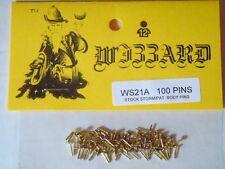 Wizzard HP Storm USA Slot Car Brass Lexan Body Pins 100 pcs
