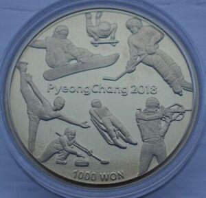 Korea 1000 Won 2016 PyeongChang 2018 Winter Olympics