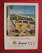 1957 Seagram's VO Canadian Whisky / Parliament Cigarette Color AD