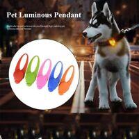 Pet Dog Cat Puppy Silicone LED Flashing Collar Safety Night Light Pendant HOT!