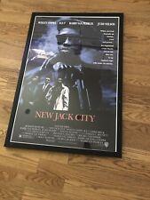 NEW JACK CITY - 42x29 Framed Movie Poster Vintage Retro Rare 90s Wesley Snipes