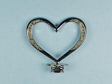 "2.5"" Silver Rhinestone Cake Topper Symbol ""Heart"" Monogram Wedding Symbol Decor"