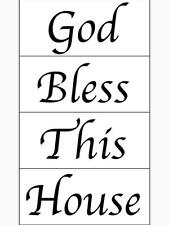 GOD BLESS THIS HOUSE WALL DECALS LARGE Removable Quotes Wall Stickers Home Décor